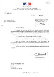 Lettre de Madame la Ministre et Grand Débat dans le nord ouest des Yvelines