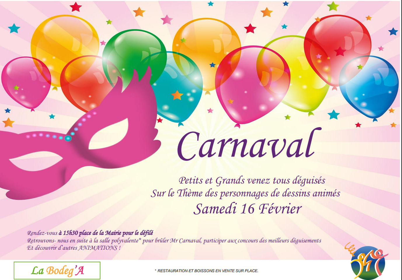 Carnaval organisé par La Bodeg'A