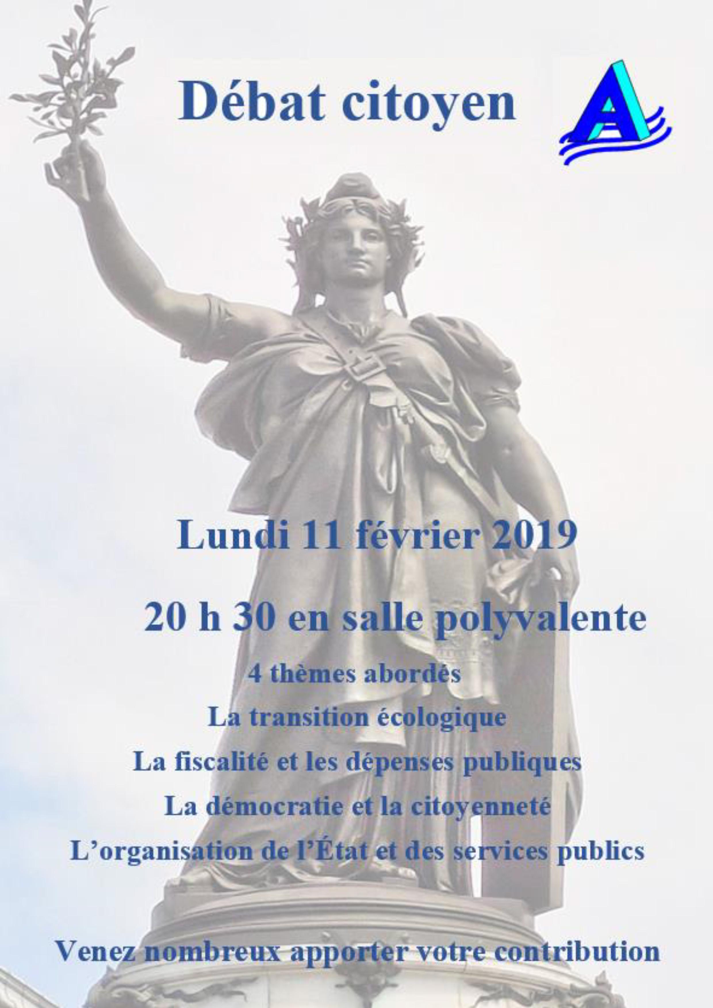Débat citoyen lundi 11 février