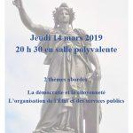 Deuxième débat citoyen jeudi 14 mars 2019