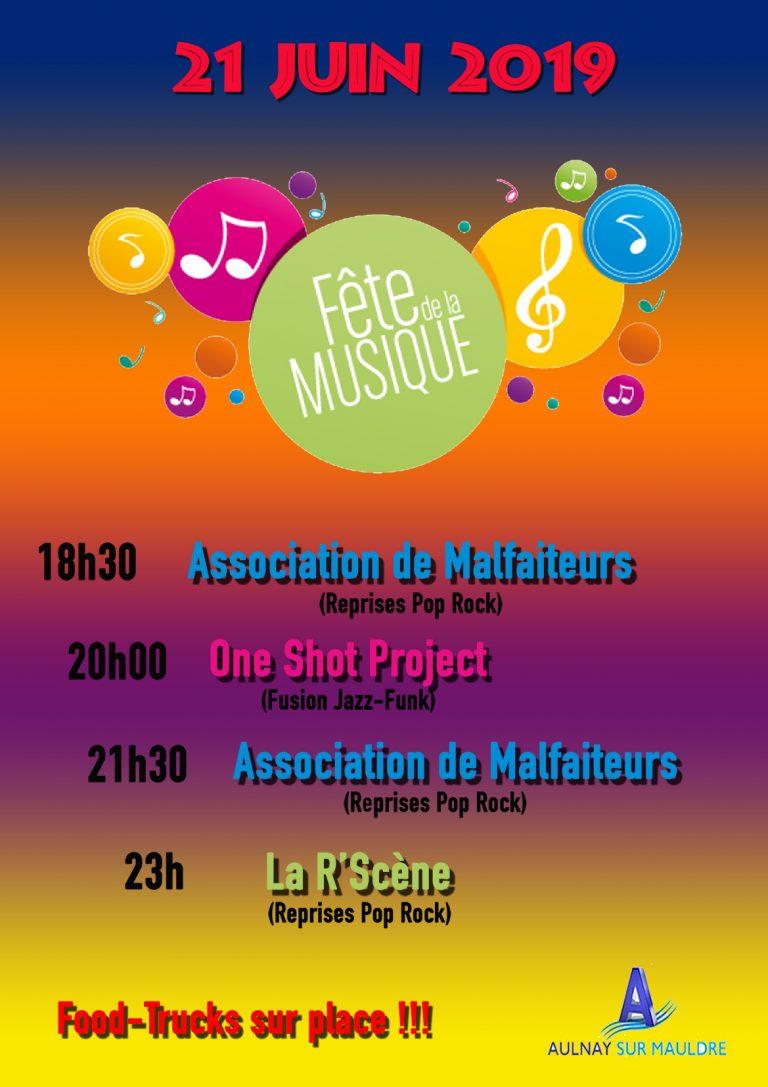 Programme de la Fête de la Musique 2019