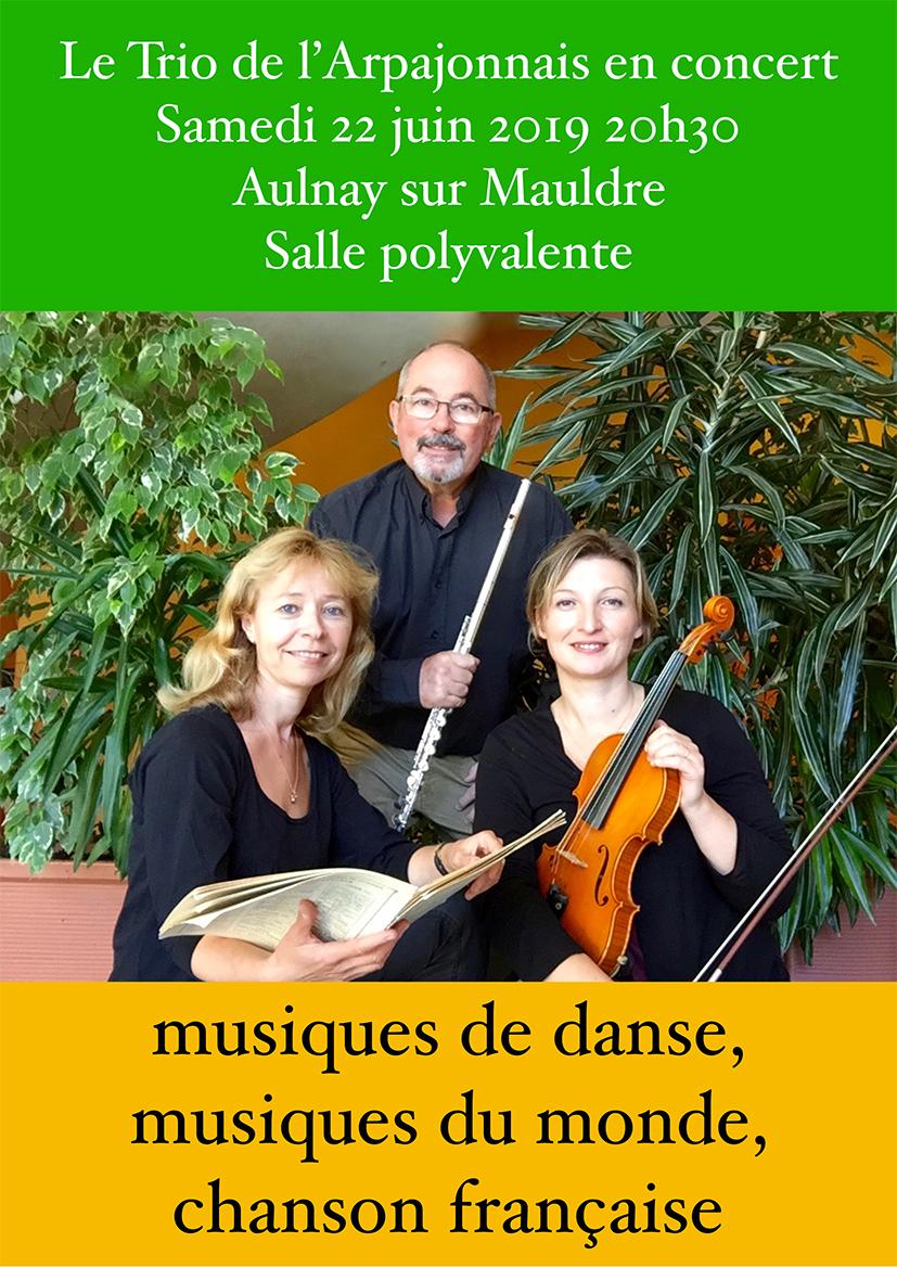 Le Trio de l'Arpajonnais en concert