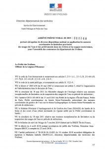 Arrêté Préfectoral du service environnement