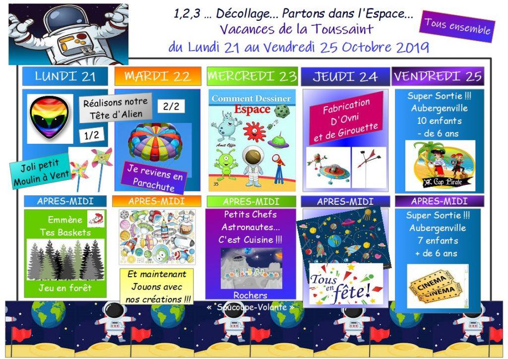 Plannings d activit s des vacances de la toussaint 2019 - Les vacances de la toussaint 2020 ...