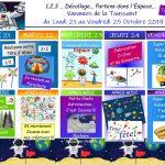 Plannings d' Activités des Vacances de La Toussaint 2019