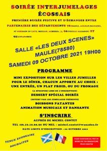 Read more about the article Soirée InterJumelage du Samedi 9 octobre à 19h autour de l'Ecosse à la salle des fêtes de Maule.